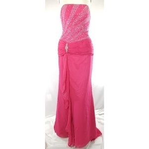 Fitted Embellished Long Gown 8 *Broken Zipper